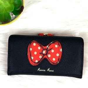 Official Disney Minnie Mouse Bow Cartoon Wallet